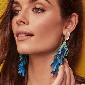 NWT Kendra Scott Justyne Earrings in Blue/Green!!